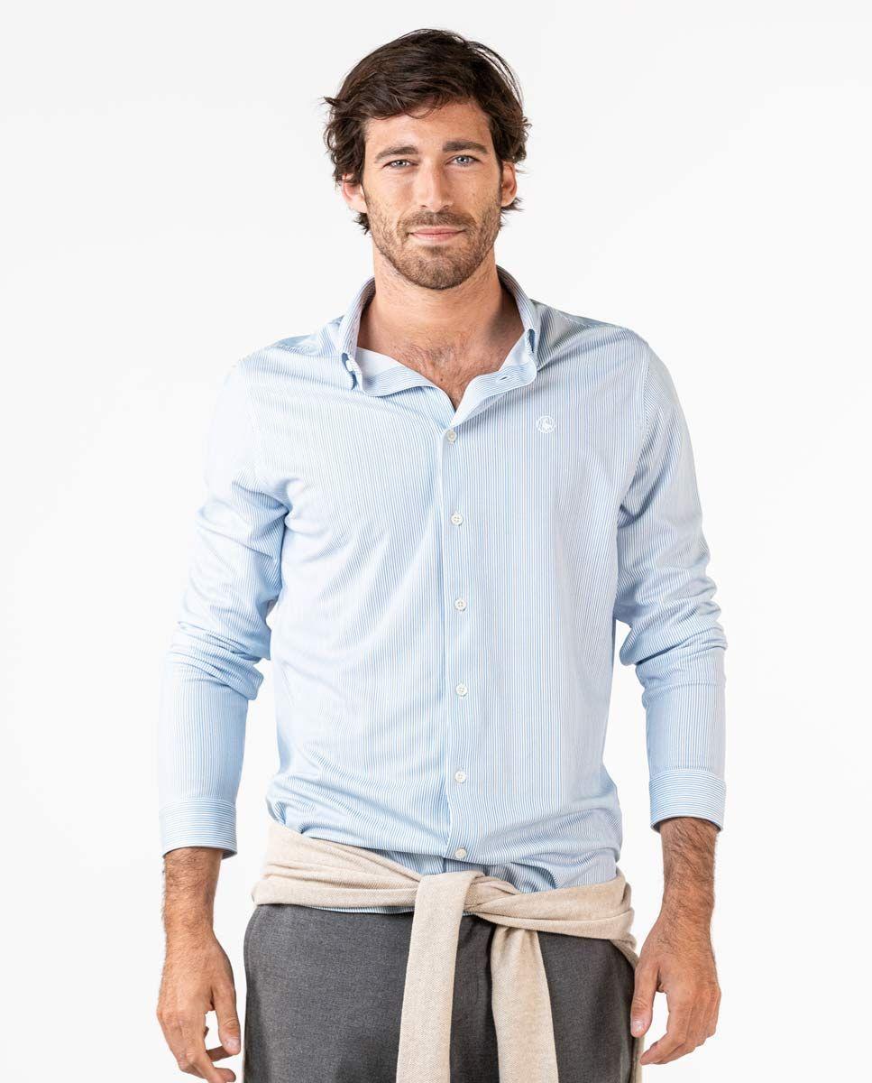 Camisa Sepiia Mil Rayas Azul Image 4