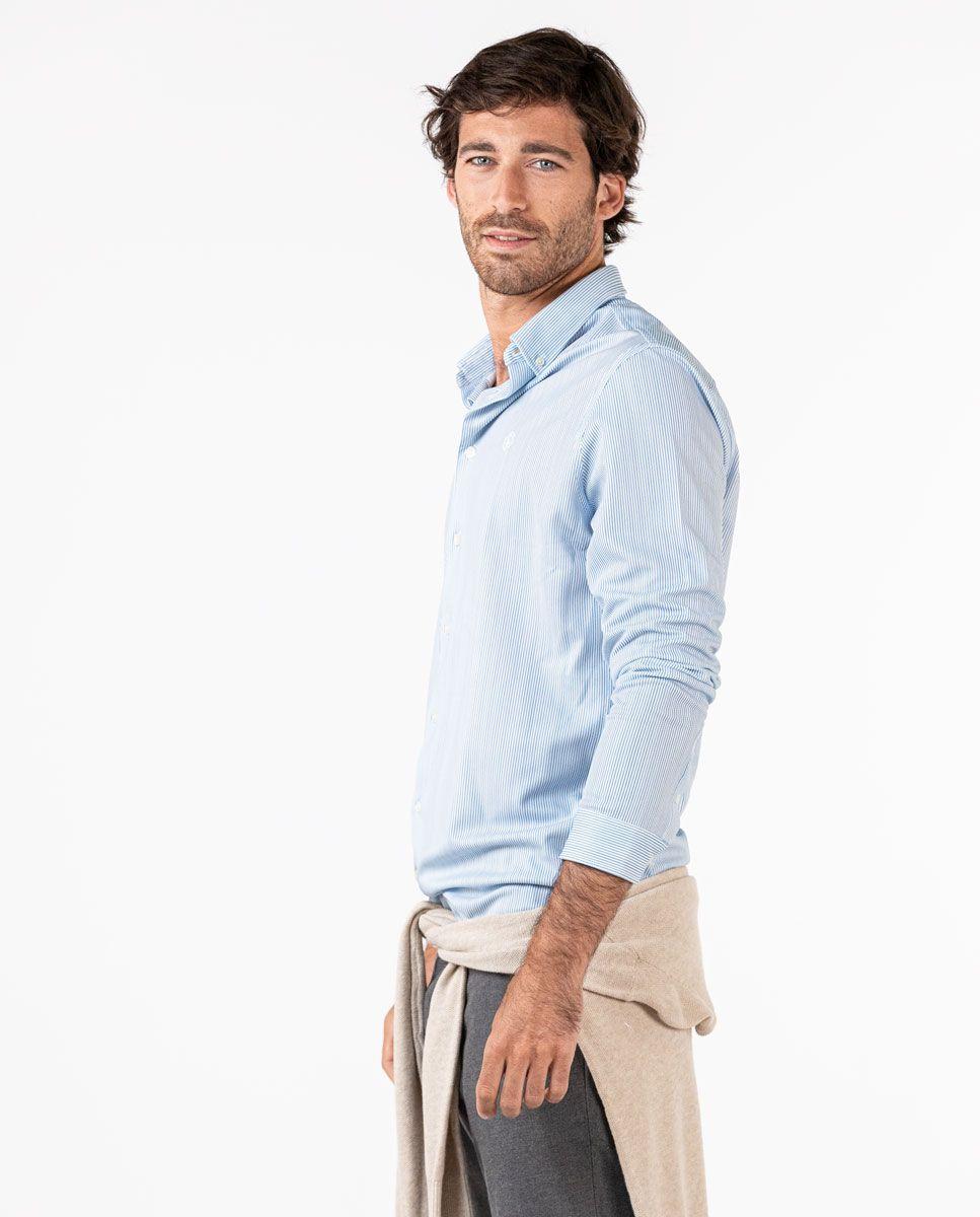 Camisa Sepiia Mil Rayas Azul Image 1
