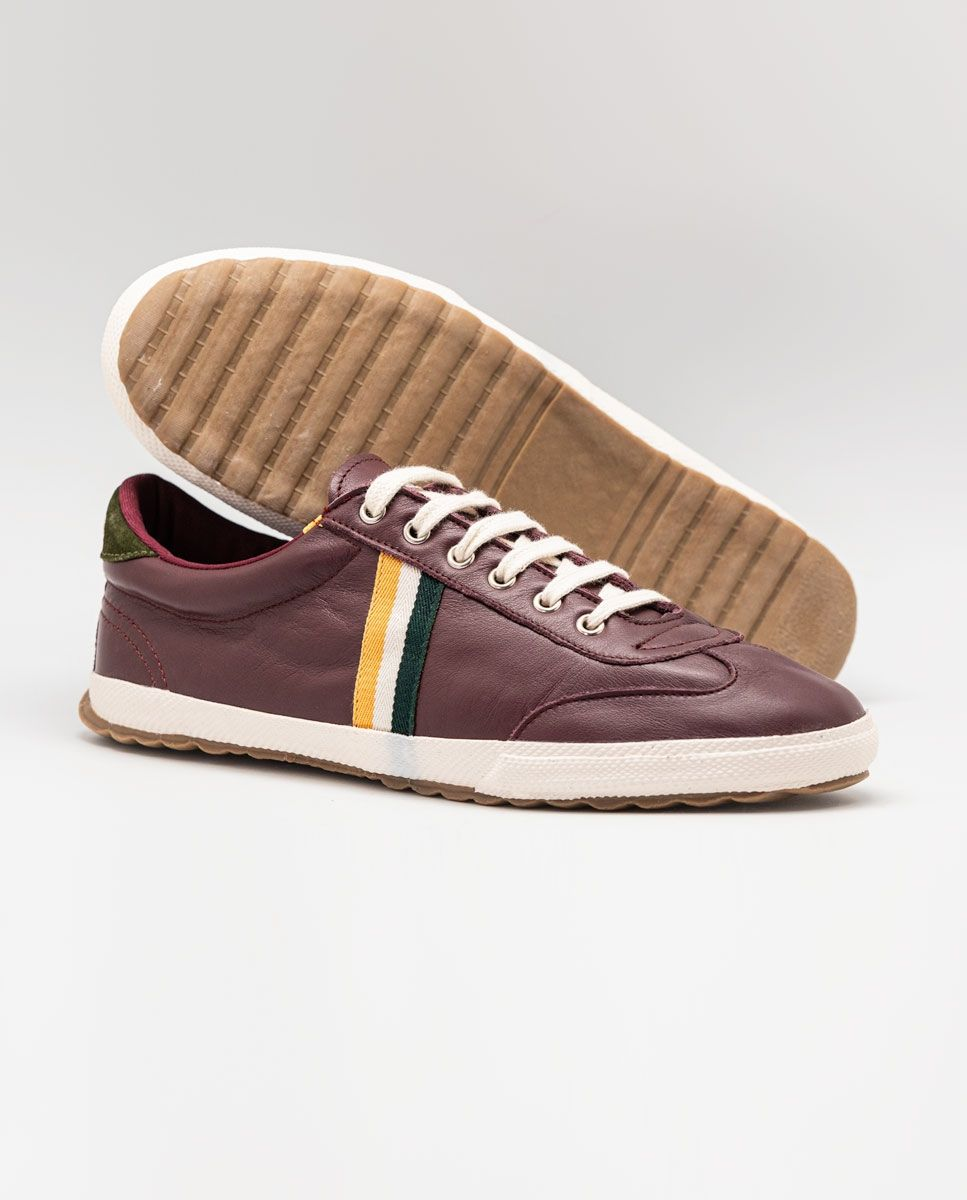 Maroon Leather Match Sneaker Image 8
