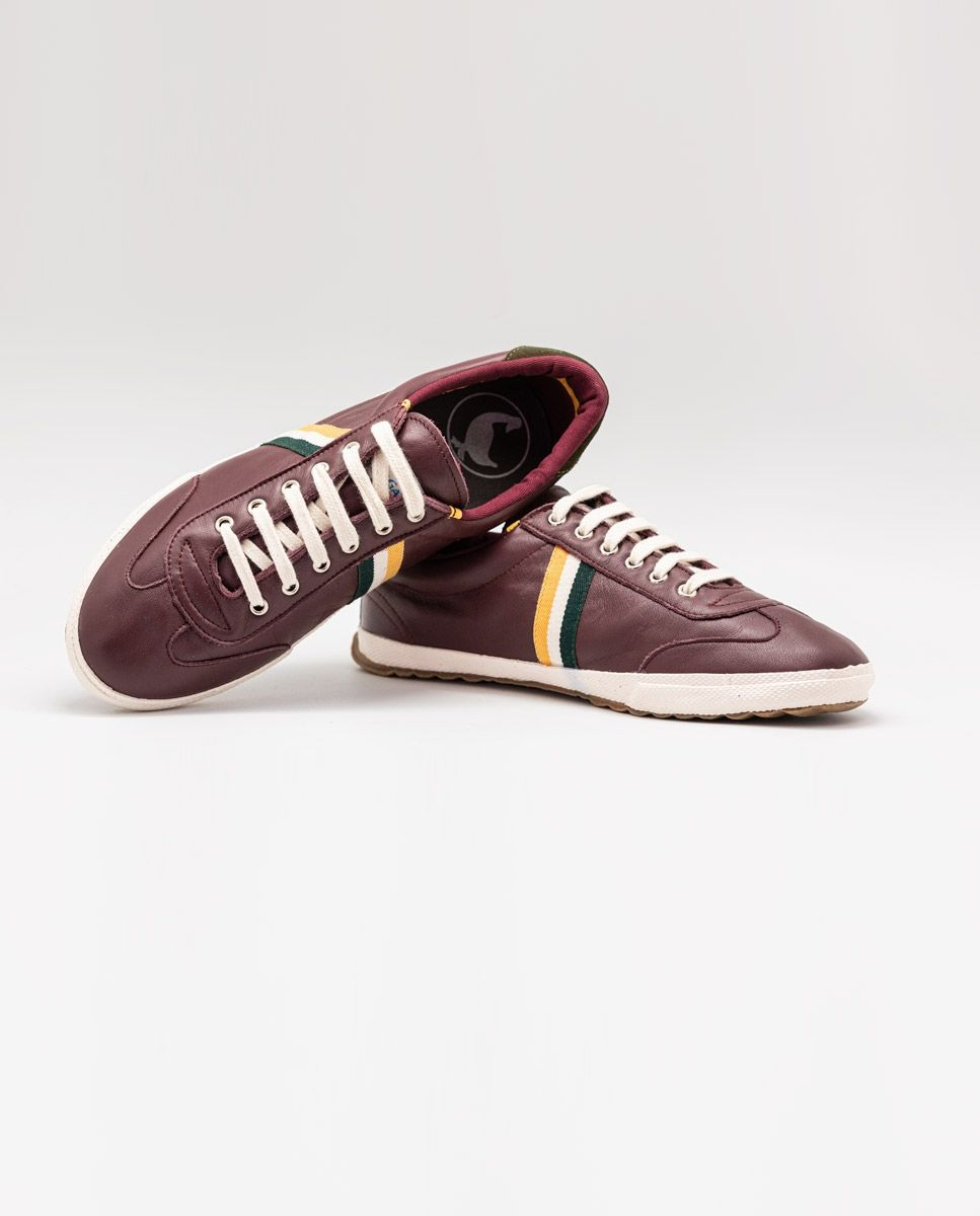 Maroon Leather Match Sneaker Image 6