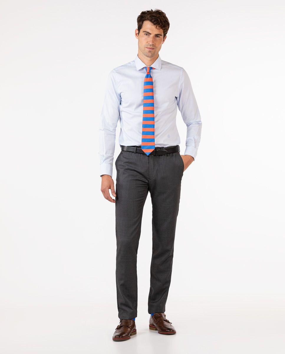 Dark Grey Birdseye Trousers Image 2