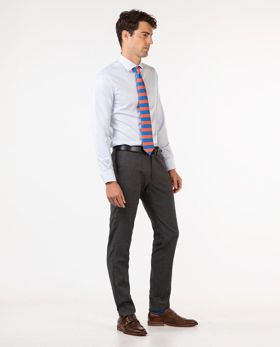 Dark Grey Birdseye Trousers Image 3