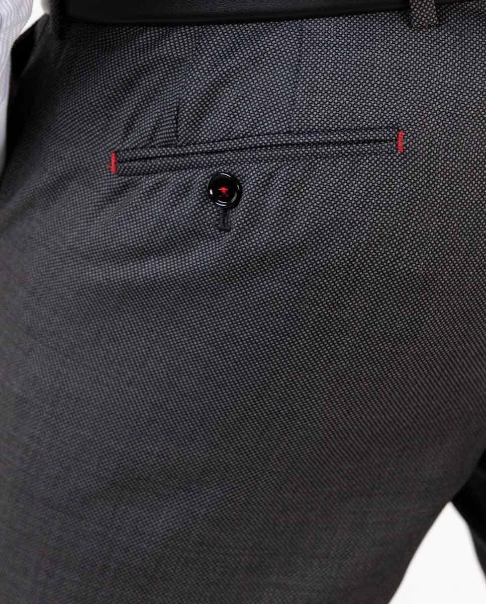 Dark Grey Birdseye Trousers Image 1
