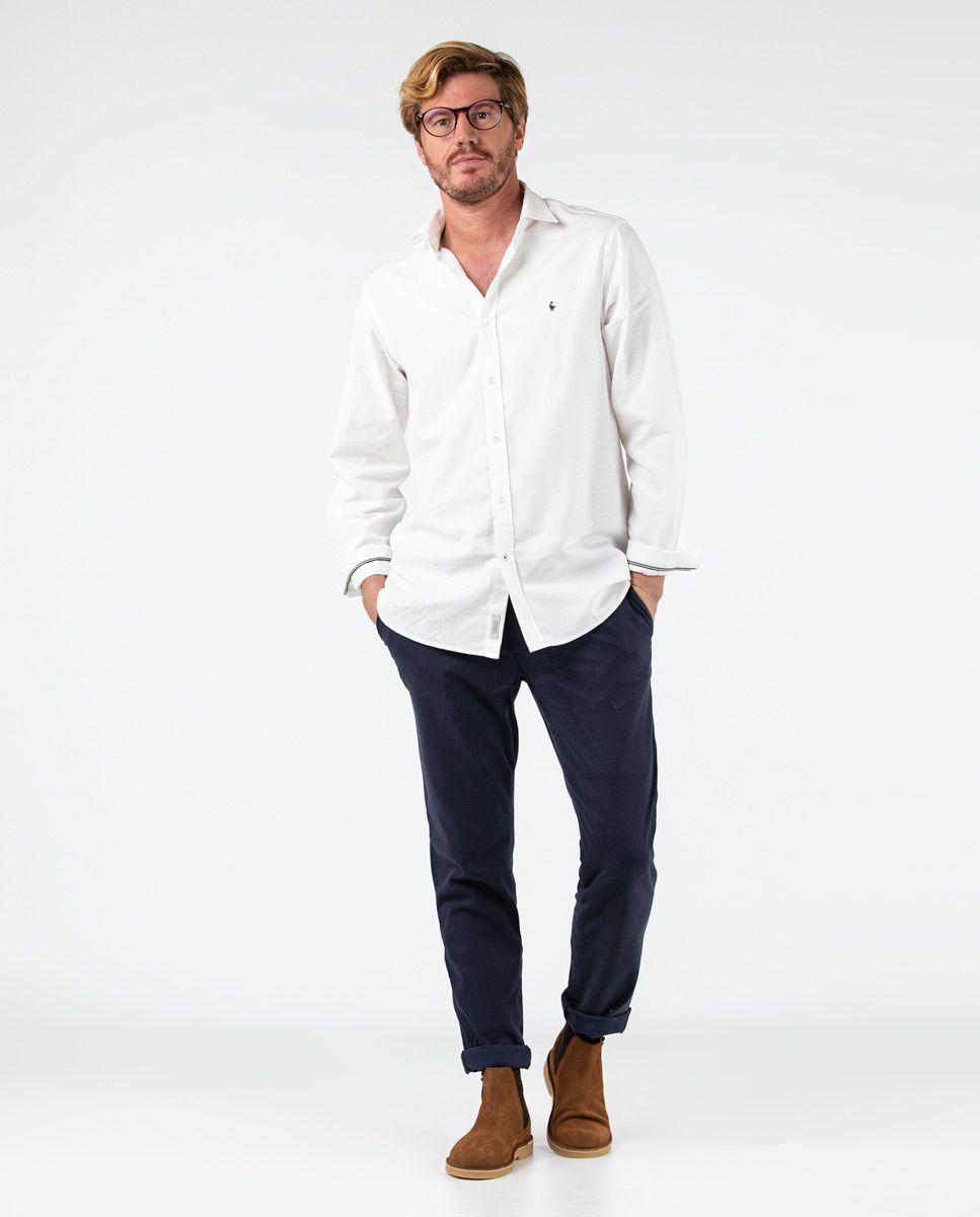 Navy plain Cotton Drawstring Pants  Image 1