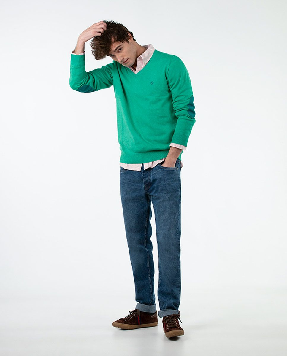 Jersey Cuello Pico Verde Image 1