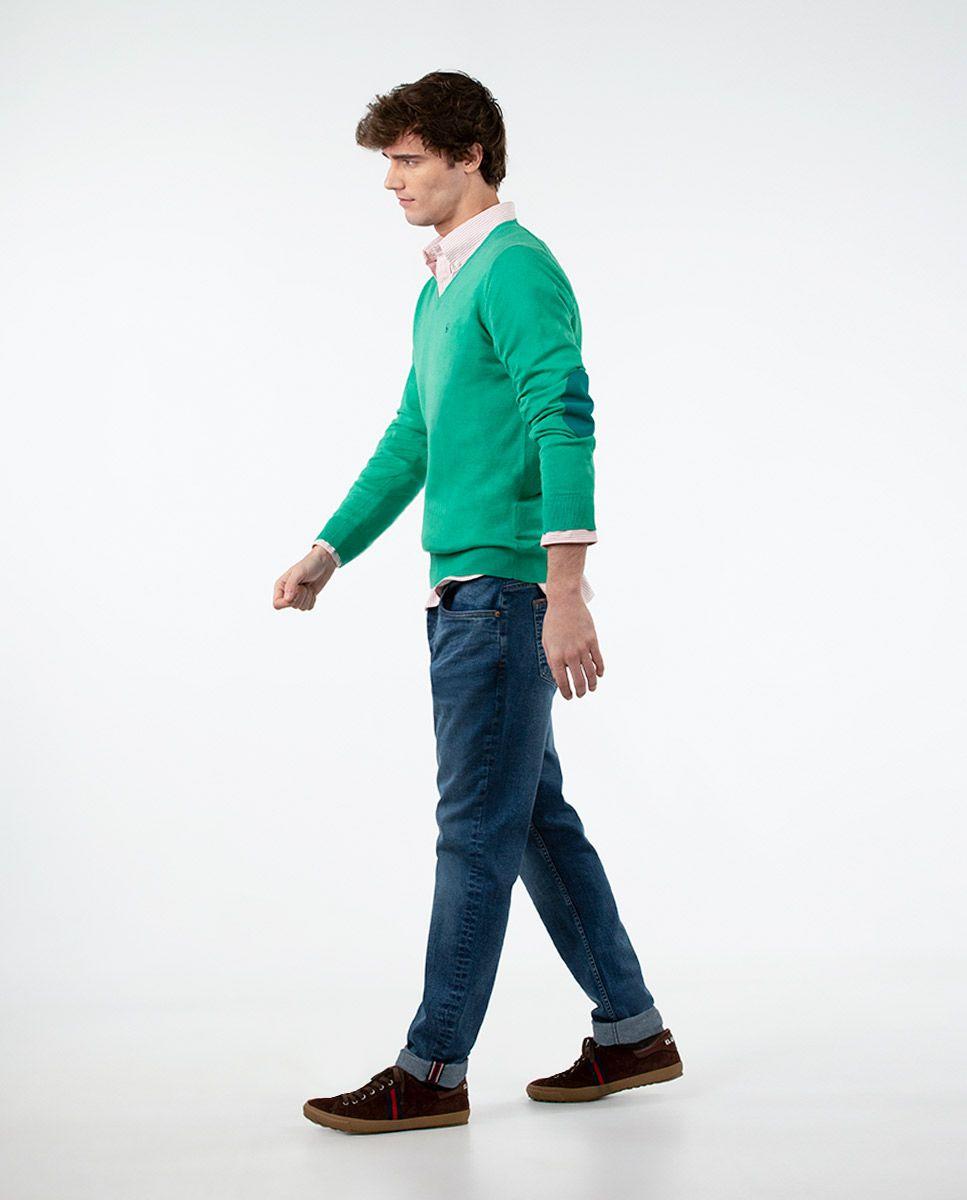 Jersey Cuello Pico Verde Image 2
