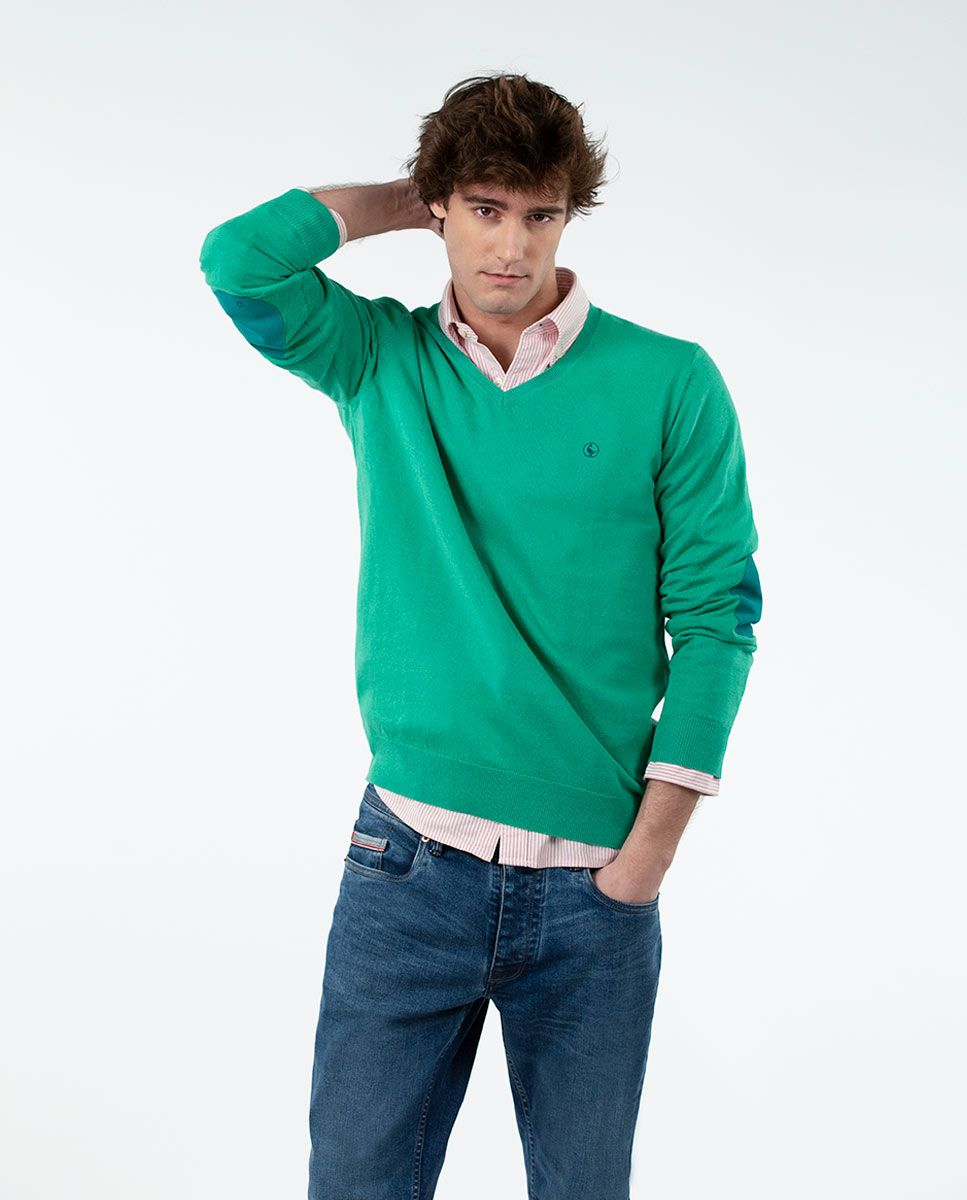 Jersey Cuello Pico Verde Image 4