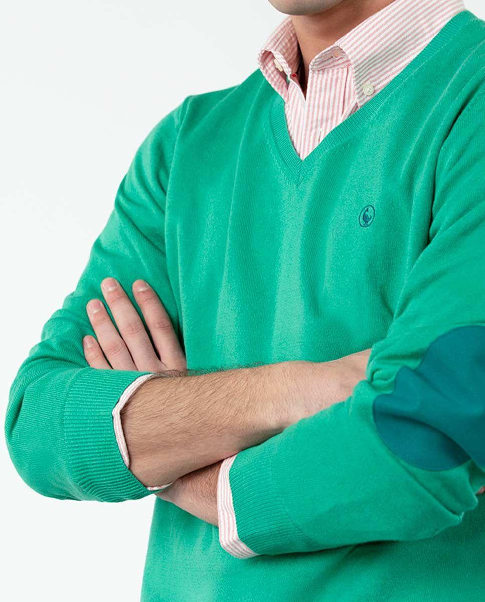 Jersey Cuello Pico Verde Image 5