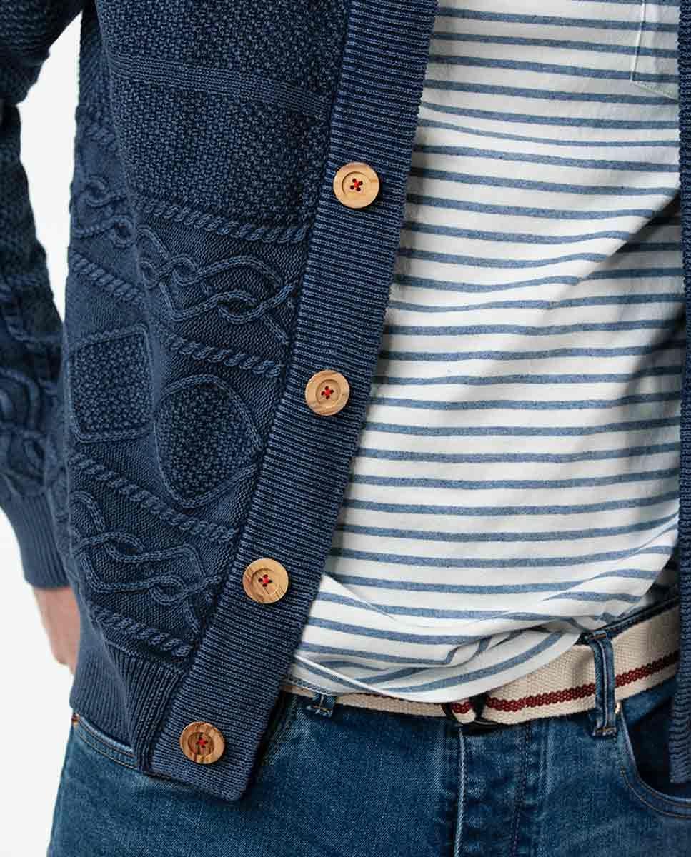 Cardigan Botones Azul Denim Image 4