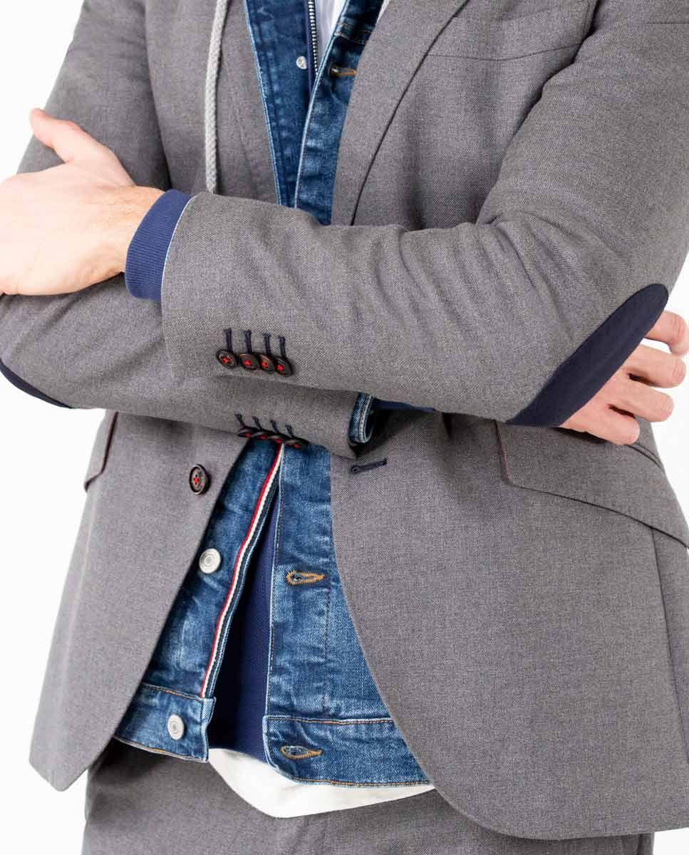 Grey Panama Blazer Separate Image 6