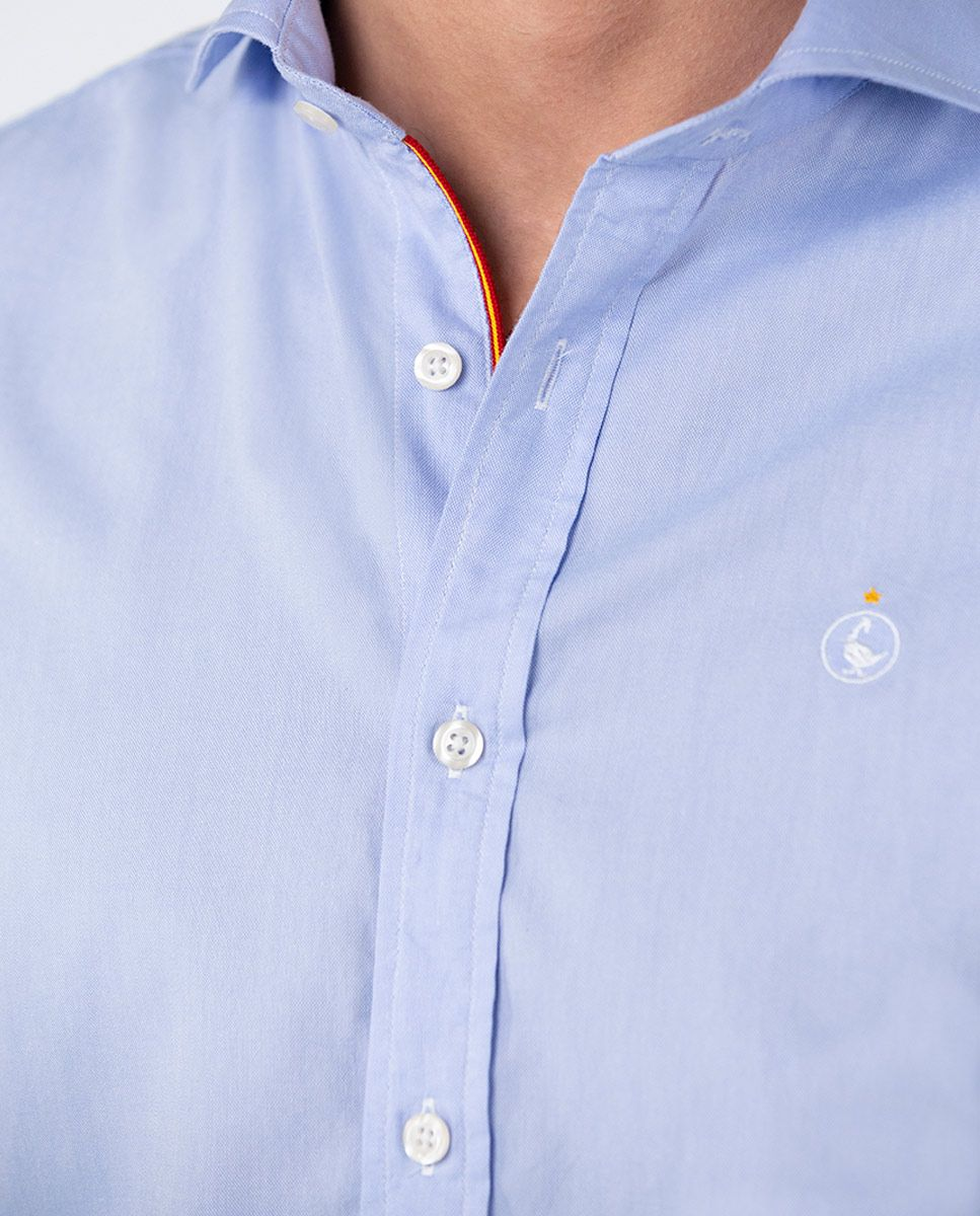 Plain Blue Oxford Shirt RSFF Image 4