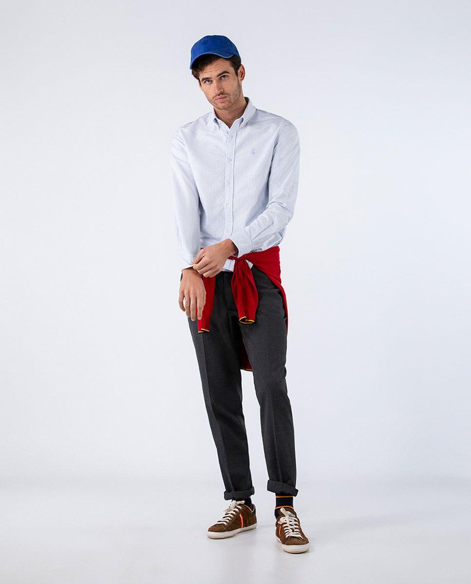 Blue Striped Yale Shirt RSFF Image 2