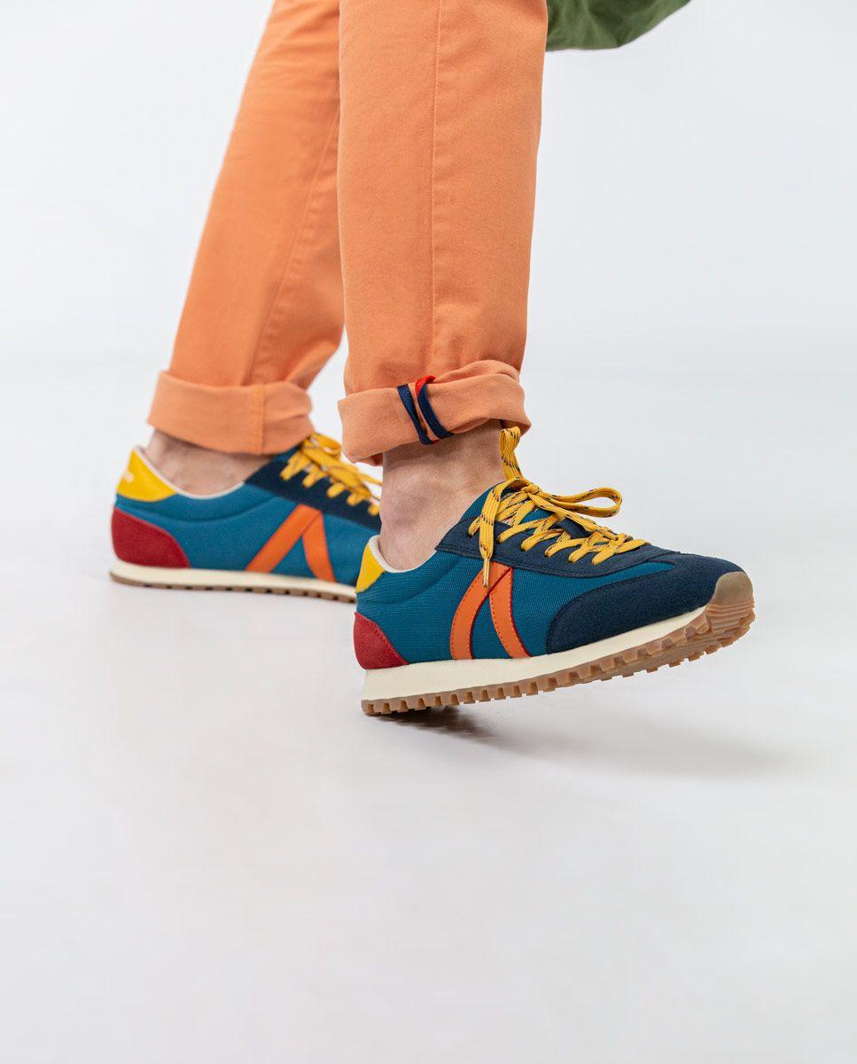 Blue Nylon Running Sneakers W Trekking Mesh Image 6