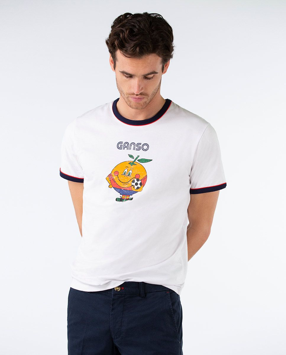 Camiseta Naranjito Selección RFEF Blanca. Image 2