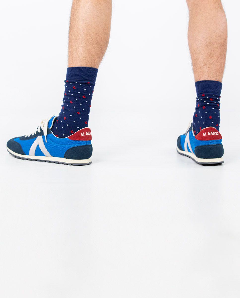 Blue Nylon Running Sneakers W Mesh. Image 7