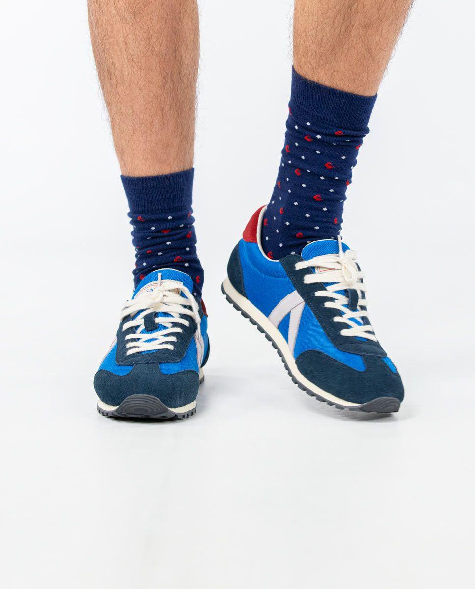 Blue Nylon Running Sneakers W Mesh. Image 5