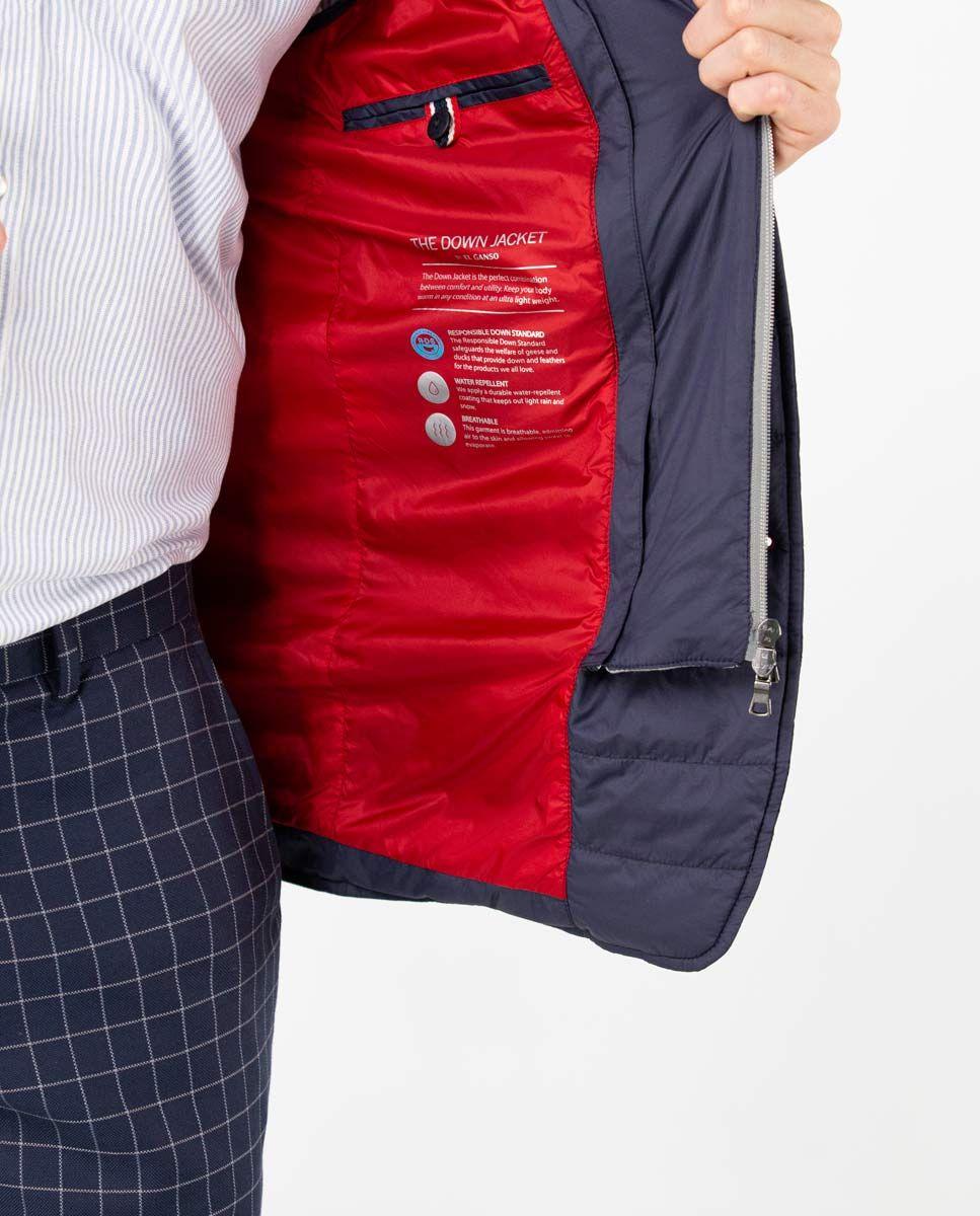 Navy Puffer Blazer with Hood Image 9