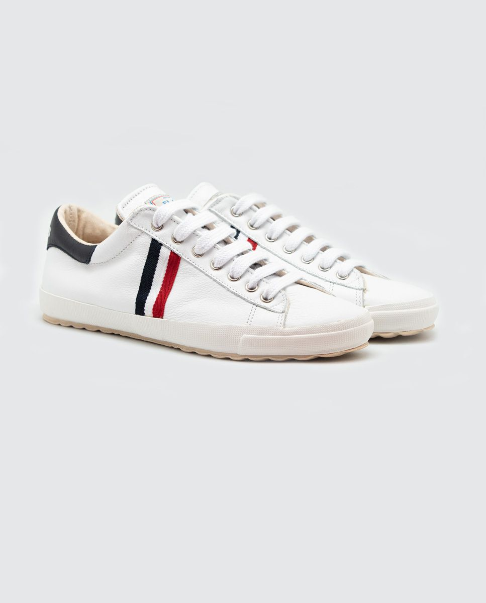 White Leather Low-Top Sneaker Image 2