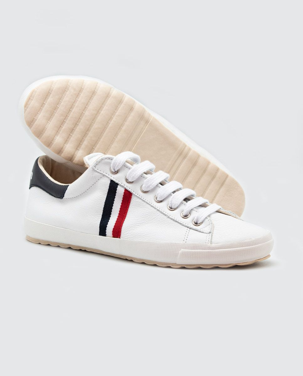 White Leather Low-Top Sneaker Image 4