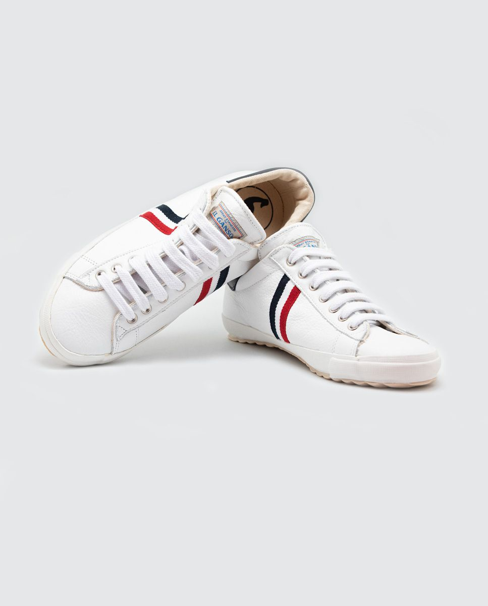 White Leather Low-Top Sneaker Image 3