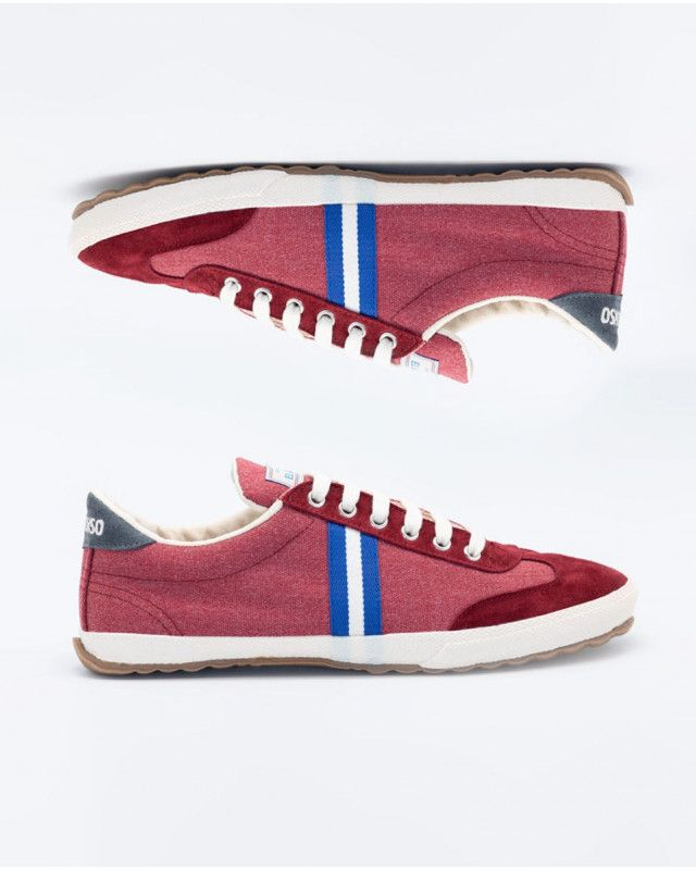 Washed Maroon Canvas Classic Match Sneaker Image 6