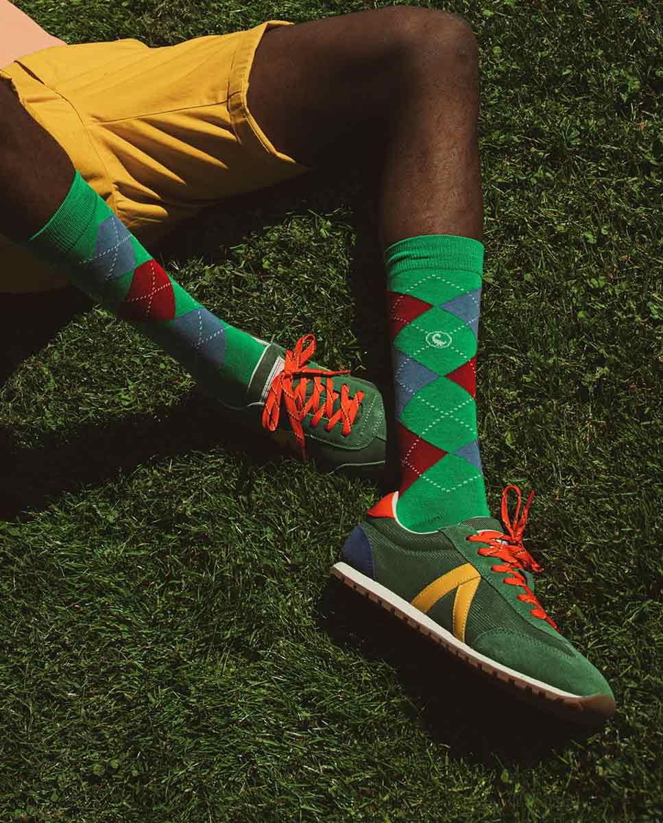 Green Nylon Running Sneakers W TrekkingMesh Image 5